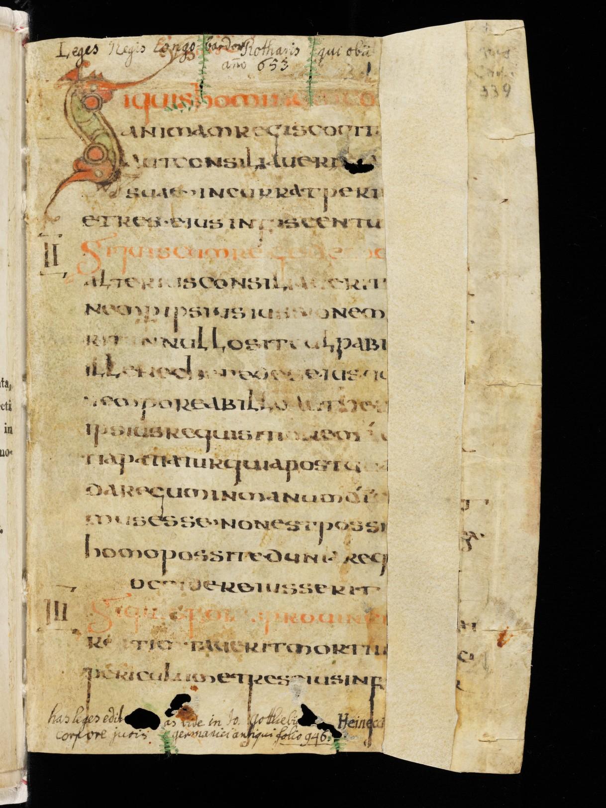 Cod. Sang. 730, p. 1